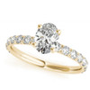 1 1/2Ct Oval Diamond Engagement Ring 14k White Yellow or Rose Gold Lab Grown (G/H, VS1-VS2)