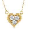 """1/2Ct Diamond Heart Pendant in 14k White Yellow or Rose Gold 18"""" Necklace (G-H, I1)"""