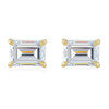 1/2Ct Emerald Cut Moissanite Studs 14k White or Yellow Gold