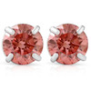 1/2Ct Pink Lab Grown Diamond Screw Back Studs Earrings 14K White Gold (Pink, SI(2)-I(1))