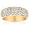 1 3/4Ct Pave Diamond Lab Grown Wedding Anniversary Ring 14k Yellow Gold ((G-H), SI(1)-SI(2))
