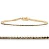 "1 3/4 Ct TW Black Diamond Tennis Bracelet 14k Yellow Gold 7"" (Black, I2-I3)"
