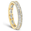 1 1/10 Ct Baguette & Diamond Eternity Ring Wedding Band in White or Yellow Gold (G/H, I1-I2)