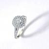 1 Ct TW Diamond Cushion Halo Engagement Ring in White Gold (G/H, I1-I2)