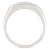 1 Ct Men's Diamond Cluster Nugget Detail Ring in 10k White Gold (G/H, I1-I2)