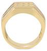 1 1/2Ct Men's Multi-Row Diamond Ring in 10k Yellow Gold (G/H, I1-I2)