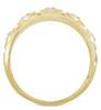 1/2Ct Men's 5-Stone Diamond Ring in 10k Yellow Gold (G/H, I1-I2)