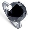 8 Ct Black Moissanite Solitaire Engagement Ring 10k Black Gold