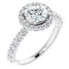 1 3/4Ct Halo Diamond Engagement Ring 14k White Gold (G/H, SI1-SI2)