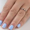 1 cttw Blue Sapphire Diamond Wedding Eternity Ring 10k Yellow Gold (G/H, I1-I2)
