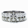 1/2ct Diamond Semi Mount Engagement Wedding Ring Set (G/H, I1)