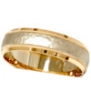 Hammered Wedding Band 14K Gold