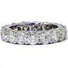 5ct Prong Diamond Eternity Ring 14K White Gold (I-J, I2)