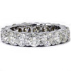 5ct Prong Diamond Eternity Ring 14K White Gold (I-J, I2)