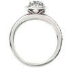 1 3/8ct Halo Pave Diamond Ring 14K White Gold (G/H, I1)