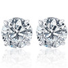 2.00Ct Round Brilliant Cut Natural Diamond Stud Earrings14K Gold Basket Setting (G/H, I2-I3)
