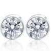 1.50Ct Natural Round Brilliant Cut SI1-SI2 Diamond Stud Earrings in 14K Gold Round Bezel Setting (G/H, SI1-SI2)