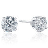 2.00Ct Round Brilliant Cut Natural Diamond Stud Earrings 14K Gold Classic Setting (G/H, I2-I3)