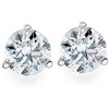 1.00Ct Round Brilliant Cut Natural Diamond Stud Earrings in 14K Gold Martini Setting (G/H, I2-I3)