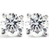 1 CT. T.W. Genuine White Diamond Studs 14K White or Yellow Gold (G/H, I2-I3)