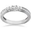 1/2ct Vintage Diamond Anniversary Ring 14K White Gold (H/I, I1)