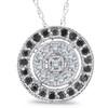 1/3ct Black & White Diamond Fancy Circle Pave Pendant (G/H, I2)