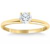 14k Yellow Gold 5/8 ct Round Solitaire Diamond Engagement Ring (G/H, I1)