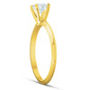 14k Yellow Gold 5/8 ct Round Solitaire Diamond Engagement Ring (G/H, I1)