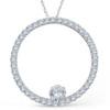 1 1/2ct Circle Of Life Diamond Pendant 14K White Gold (G/H, I1-I2)