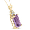 14K Yellow Gold 7 1/8ct Amethyst & Diamond Solitaire Pendant (G, I1)