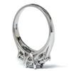 1 1/4ct Three Stone Diamond Engagement Ring Platinum (G/H, I1)