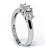 1/2ct Three Stone Diamond Ring 14K White Gold (G/H, I1)