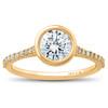 1 ct Charlotte Diamond Engagement Ring 14k Yellow Gold Lab Grown Bezel Round (F/G, VS2-SI1)