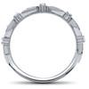 1/4ct Diamond Wedding Ring Womens Stackable Anniversary Ring 14k White Gold (H/I, I1-I2)