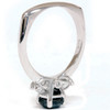 1 3/8ct Black Diamond Engagement Accent Anniversary Ring 14k White Gold (G/H, SI)