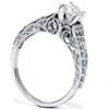 1/2ct Vintage Filigree Diamond Engagement Ring 14K White Gold (G/H, I1-I2)