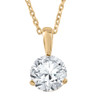 1 1/2 ct Solitaire Lab Grown Diamond Pendant available in 14K and Platinum (F, SI1-SI2)
