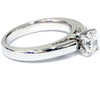 1 ct Round Cut Solitaire Diamond Cathedral Heavy 5g Engagement Ring White Gold (F, VS)