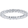 1 1/3CT Diamond Eternity Wedding Ring 14K White Gold (H/I, I1-I2)
