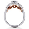 1 3/8 ct Diamond Lab Created Vintage Engagement Ring 14K White & Rose Gold (F, VS)