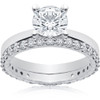 1 3/4 ct Lab Created Eco Freindly Diamond Engagement Ring & Matching Eternity (F, VS)