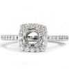 1/3ct Diamond Halo 14K White Gold Engagement Ring Setting (G/H, I1)