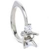 1/3ct Diamond Semi-Mount Engagement Ring 14K Setting (G/H, I1)