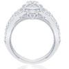1 1/2ct Diamond Halo Engagement Trio Infinity Vintage Ring Set 10k White Gold (I/J, I1-I2)