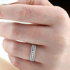 1/3ct Diamond Anniversary Ring 10K White Gold (G/H, I2-I3)