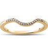 1/16 ct Lab Created Diamond Aria Wedding Curved Contour Ring (F, VS)