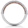 1 1/10ct Lab Created Diamond Engagement Wedding Ring 14k White Rose Gold (F, VS)