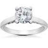 1 1/2 ct Lab Created Eco Friendly Diamond Gabriella Engagement Ring 14k White Gold (F, VS)