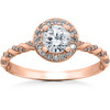 1 1/3 ct Lab Grown Diamond McKenna Halo Engagement Ring 14k White, Yellow, Rose Gold (F, VS)