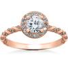 1 1/3 ct Lab Grown Diamond McKenna Halo Engagement Ring 14k White, Yellow, Rose Gold (F, VS)